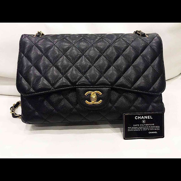9a254af55dbd5f CHANEL Bags | Classic Double Flap Bag Jumbo Caviar | Poshmark